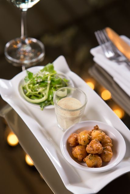 Have you tried our new entrée? Cod Popcorn - served with curry mayonnaise and watercress & cucumber salad. Yum!