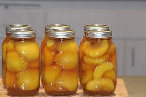 Boozy Peaches made with Captain Morgan's Private Stock Rum.These will taste delicious over ice cream!