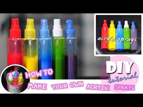 DIY : How to Make Your Own Acrylic Spray Paint วิธีทำอะคริลิคสเปรย์เพ้นท์ - YouTube