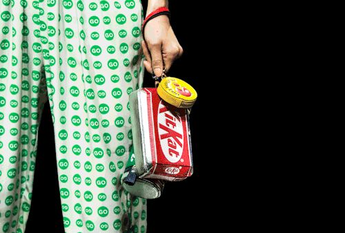 The Kit Kat clutch, given a #Halloween make-over by FashGIF