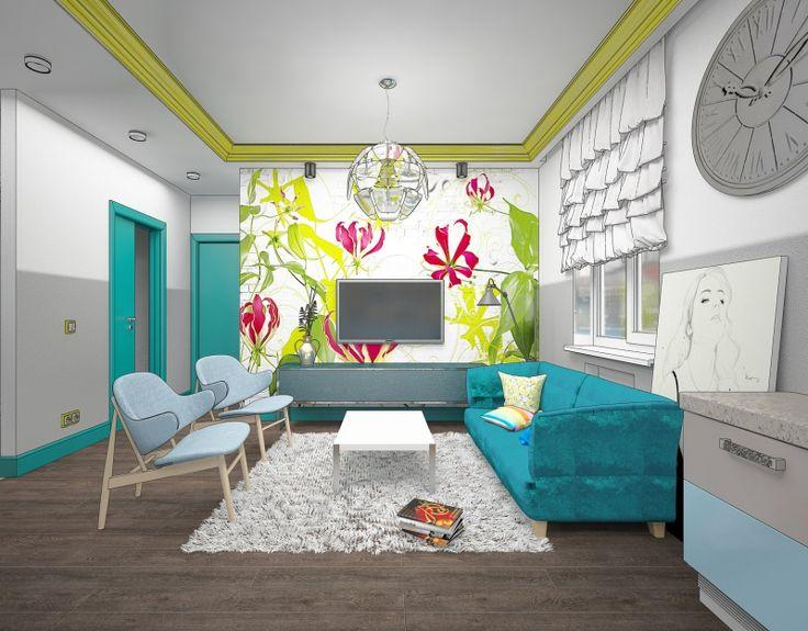 Заявки / Концепция интерьера маленькой квартиры (до 49 кв. м.) / Конкурсы / TheDecoPost