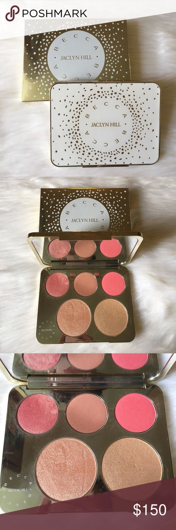 1 DAY SALE! •LE • Becca x Jaclyn Hill Face Palette This item speaks for itself! • It's absolutely stunning! • The packaging is heavy and beautiful • 3 Blush shades ( Rosè Spritz, Amaretto & Pamplemousse) 2 Highlight shades ( Champagne Pop & Prosecco Pop) • This item is no longer available • I still have the original box & I have only used Champagne Pop & Rosè Spritz once - other than that it is untouched • I am VERY reluctant to sell - so the price is ABSOLUTELY 100% FIRM & I will NOT TRADE…