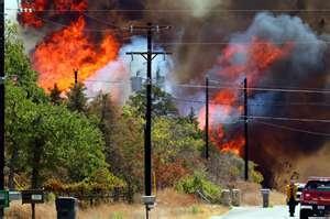 Bastrop Fire Sept. 2011. Burn all the evergreens :( I miss them