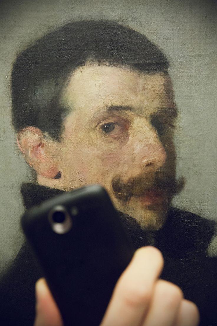 Olga Boznańska, Portret Paula Nauena, 1893 #museumselfie