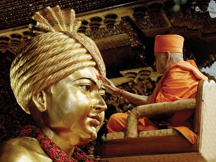 Vedic consecration  BAPS Swaminarayan Akshardham was the vision and creation of His Holiness Pramukh Swami Maharaj, spiritual leader of BAPS Swaminarayan Sanstha. He ceremoniously consecrated the temple and complex according to ancient Vedic rituals on 6 November 2005.