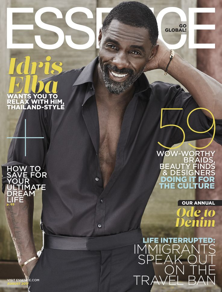Idris Elba, our August 2017 cover star talks about his upcoming films, jammed packed schedule and love life | ESSENCE.COM