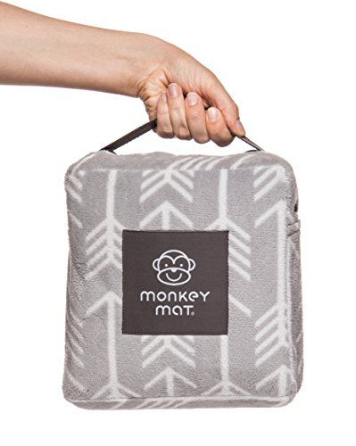 PLUSH Monkey Mat - 5' x 5' Ultra Compact Soft and Luxurious, Waterproof Portable Mat with Corner Weights and Loops in Compact Pouch. For price & product info go to: https://all4babies.co.business/plush-monkey-mat-5-x-5-ultra-compact-soft-and-luxurious-waterproof-portable-mat-with-corner-weights-and-loops-in-compact-pouch/