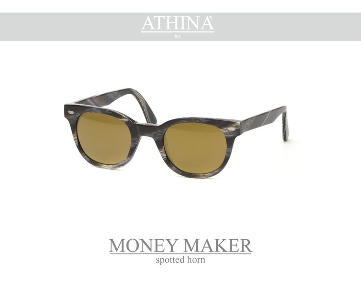 Mod. MM0909M05 Available in texture spotted-horn, zebra and white ice, provided with perfectly matching shades. Vintage frame per excellence, resistant, unique of its kind, completely made in acetate of cellulose. It has mirror gold lenses.