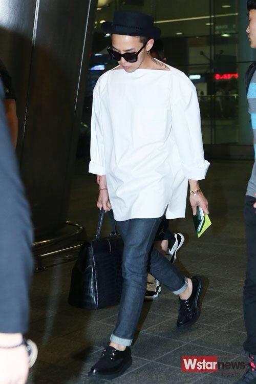 G-Dragon ♡ #BIGBANG - AIRPORT FASHION // Incheon Airport 140807
