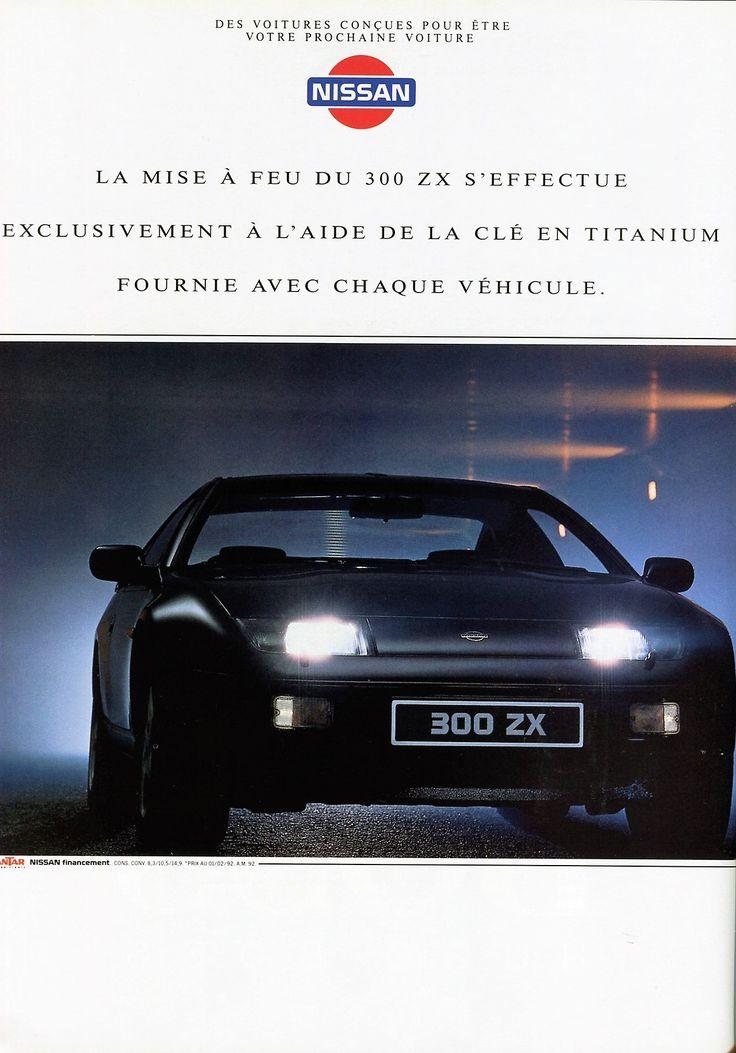 Publicité Nissan - Automobiles Classiques N° 49 avril / mai 1992.