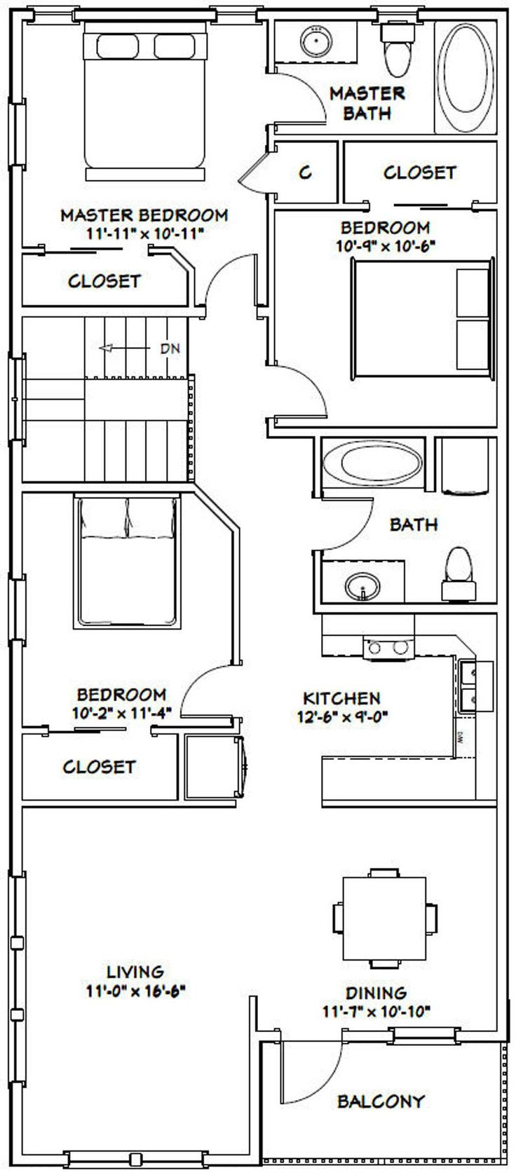 60x50 House 3Bedroom 2.5Bath 1,703 sq ft PDF