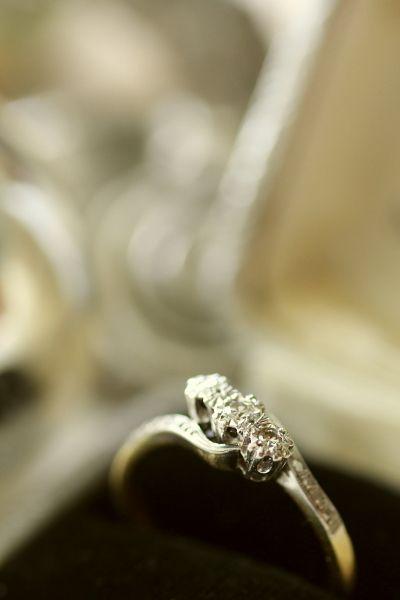 オールドヨーロピアンカットダイヤモンドリング アンティークジュエリー イギリス 18金 プラチナ