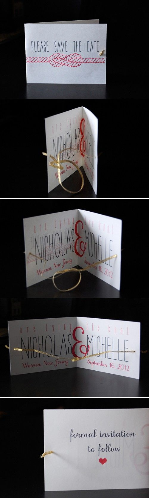 My DIY tying the knot wedding save the dates