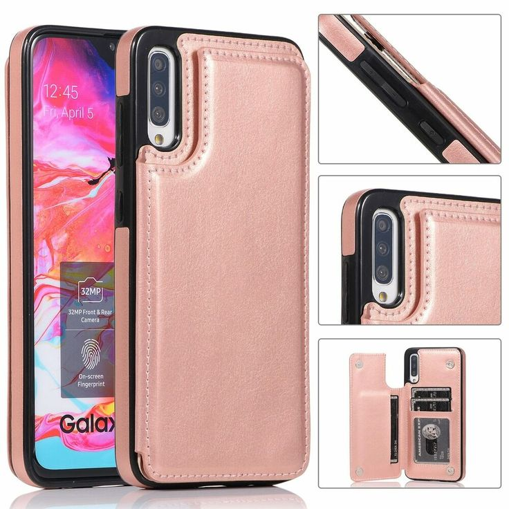 Samsung Galaxy A21 Case Flip PU Leather Shockproof Wallet Phone Cases Sunflower Folio Slim Magnetic Protective Cover Bumper with Stand Card Holder Slots for Samsung Galaxy A21 Rose gold