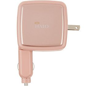 Halo Portable Power Cube with Built-in Wall Plug & Car Charger