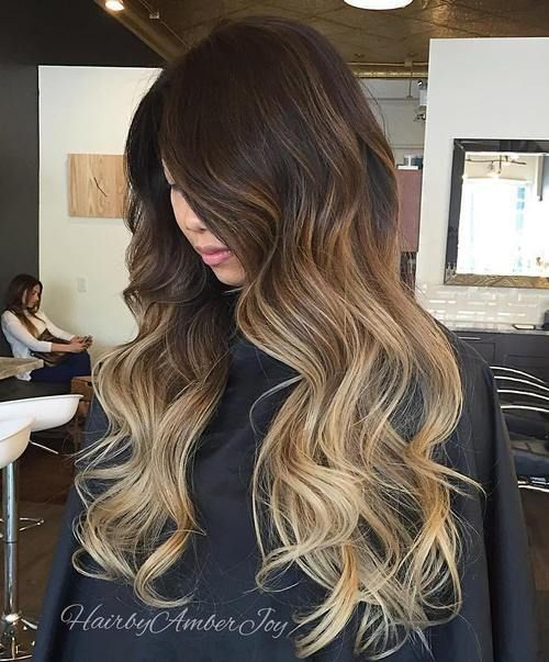 brown blonde ombre for dark brown hair