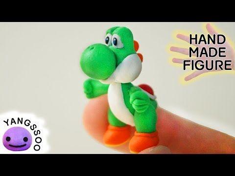 Yoshi (Super Mario Bros.) Polymer Clay Miniature Character Figure Tutorial - YouTube