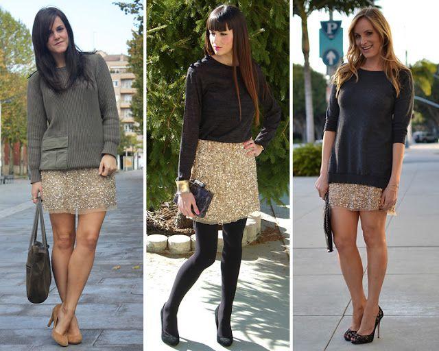 ZARA is the new black: La falda de lentejuelas doradas de Zara