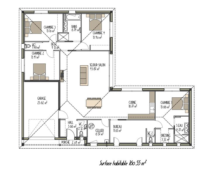 570 best plan intérieur images on Pinterest Floor plans, House