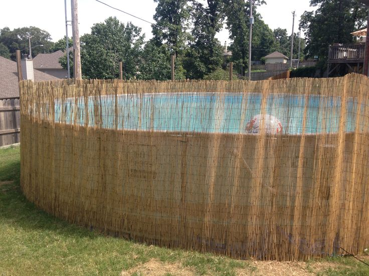 Add reed fence around above ground pool. (With images