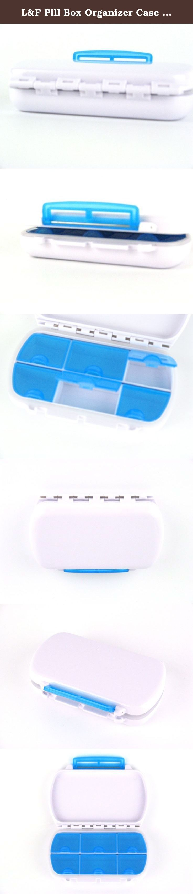 L&F Pill Box Organizer Case 6 Cells,Plastic(Blue). Specification Name: Travel 6 Compartment Pill Case Holder Brand: L&F Country: China Material:100%polypropylene(PP) Size:4.7*3*1 inch Color:blue,green,red,yellow,orange Occasions:travel,home Target Audience: all Product Features Good quality PP material,solidly and environmently,without any odor. Easy to use:every compartment has latch,it's convenient to open and secure closed,the lids can avoid pills spill all over the place, at the same...