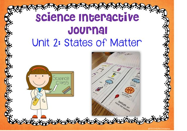 Classroom Design Journal Articles ~ Science interactive journal unit states of matter