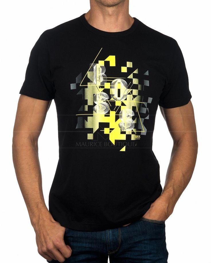 Black HUGO BOSS © T Shirt for Men ✶ Tee | BEST PRICE