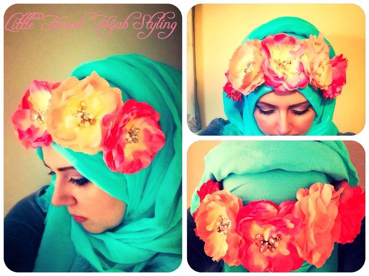 Flowers flowers summer hijab