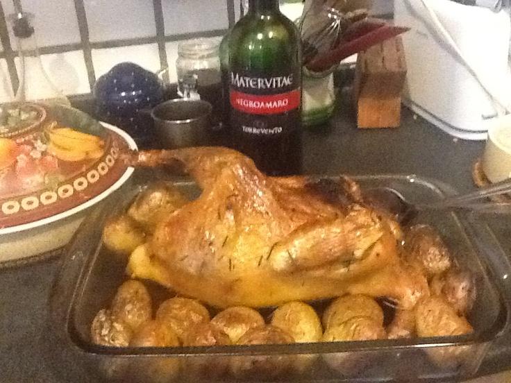 Pollo nostrano al forno con patate novelle