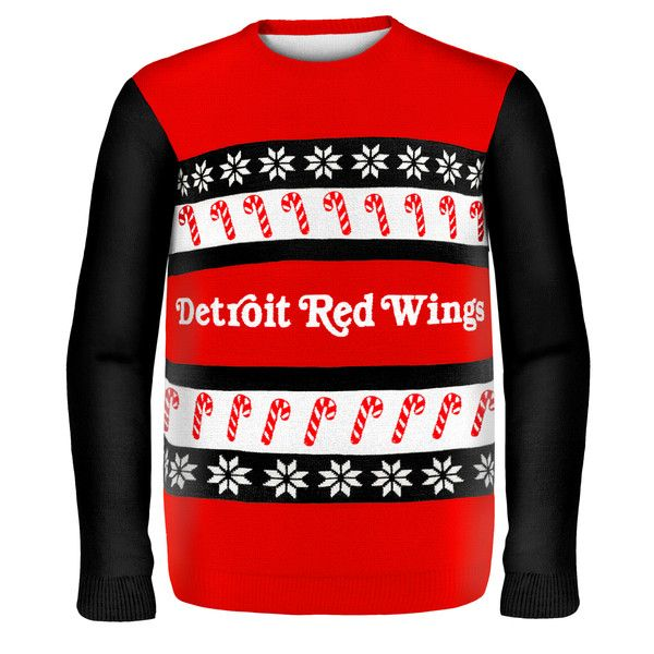 Detroit Red Wings NHL Ugly Sweater Wordmark available at uglyteams.com. Check out uglyteams.com for other merchandise and accessories! #Detroit #Redwings
