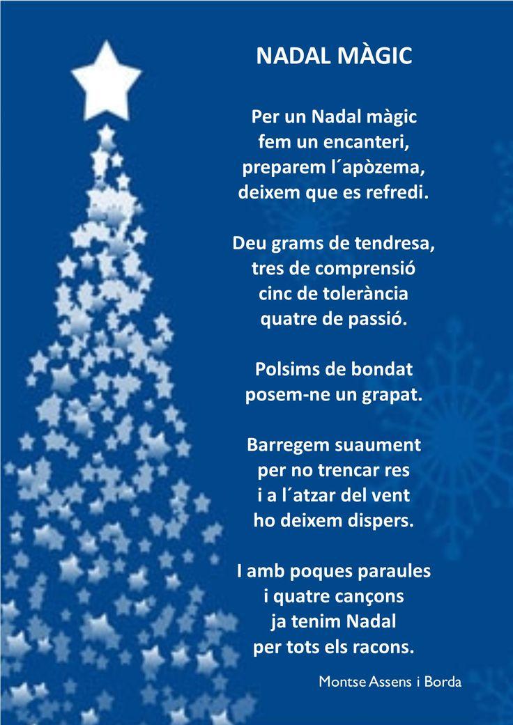 Mejores 22 im genes de poemes de nadal en pinterest - Frases de felicitaciones de navidad ...