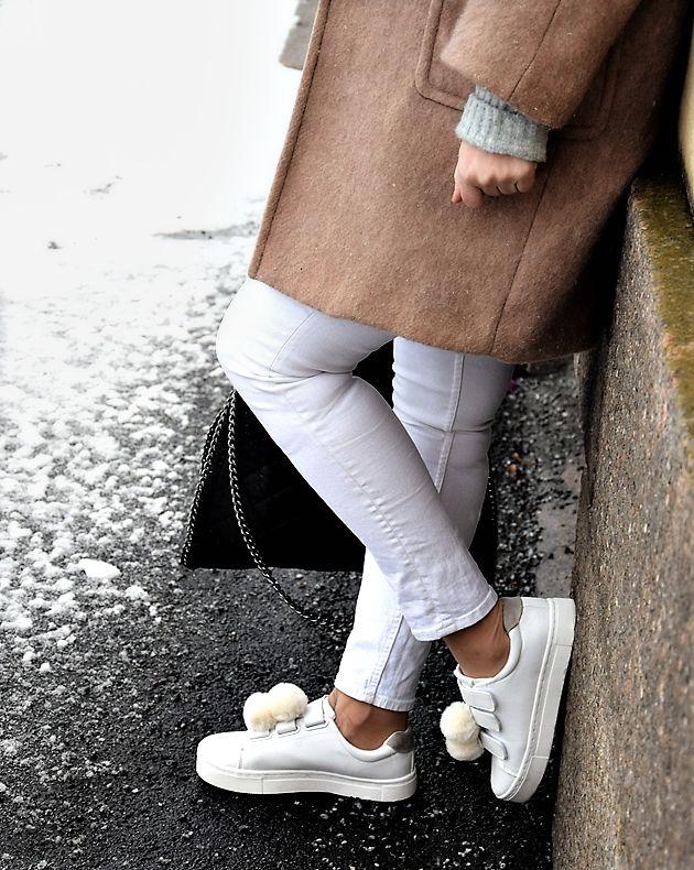 Be Inspired by me(a): Tarralenkkareiden pikatuunaus & valkoiset farkut talvella