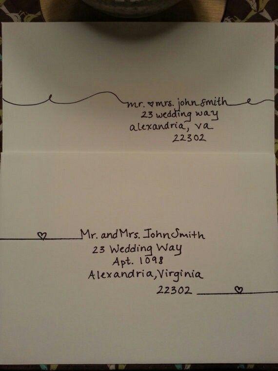Address addressing envelopes pinterest