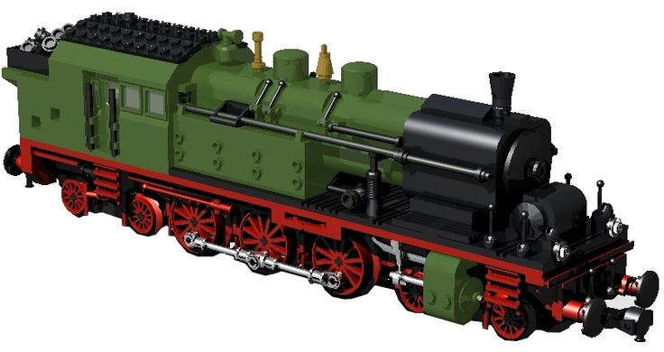 DR18 German Express Train by Ulrich Röder using Big Ben Bricks train wheels