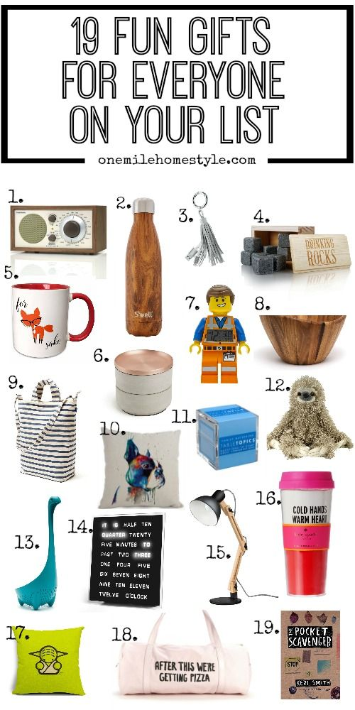 One Mile Home Style: 19 Fun Gifts For Everyone On Your List
