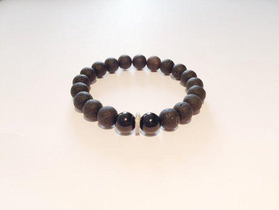 Man bracelet. BLACK, DIAMOND bracelet. Black bracelet with diamond, black onyx and diamond bracelet