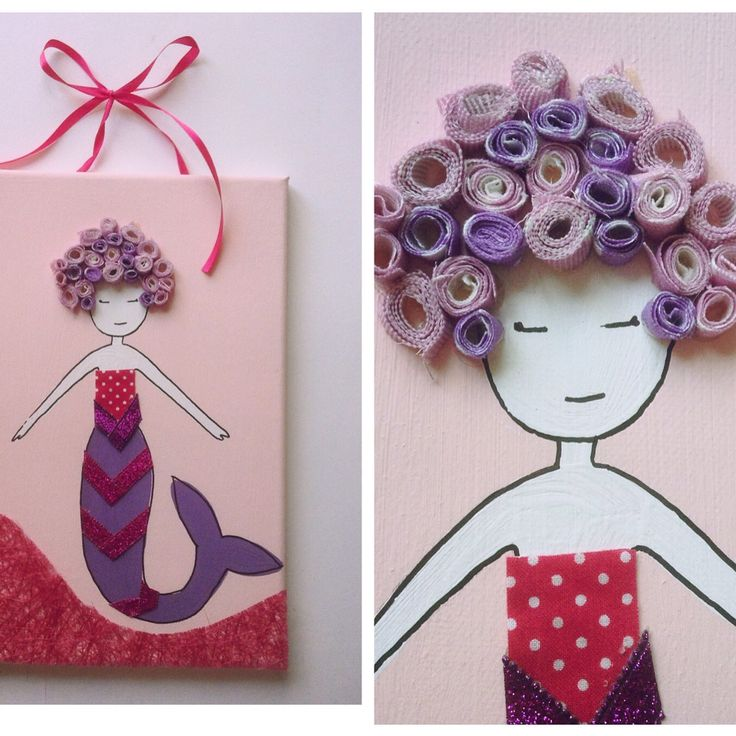 A personal favorite from my Etsy shop https://www.etsy.com/listing/468143325/little-mermaid-canvas-painting-for-kids