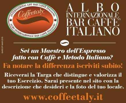 International List Bar Caffè Italiano - Coffeetaly - Albo Internazionale Bar Caffè Italiano