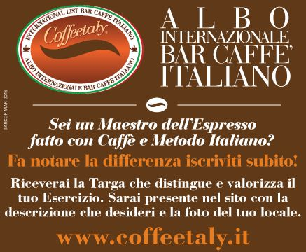 International List Bar Caffè Italiano - Coffeetaly - Albo Internazionale Bar Caffè Italiano