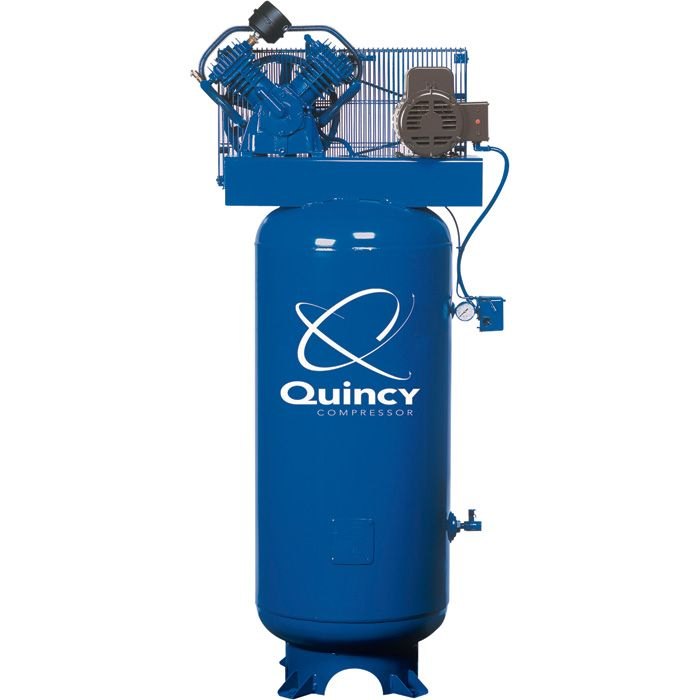 Quincy reciprocating air compressors are designed to be a compressor for life. They are built for efficiency and lower operating costs, producing more compressed air at a lower horsepower. Free Shipping!