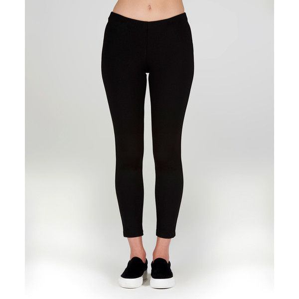 Lily & Carter London Black Ankle Leggings ($30) ❤ liked on Polyvore featuring pants, leggings, ankle length leggings, ankle length pants and legging pants