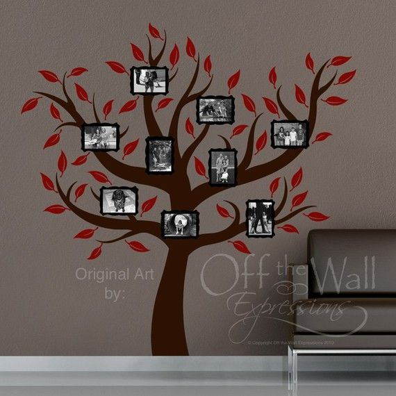 Totally putting this on the wall to the kids' rooms! Love a picture-filled family tree