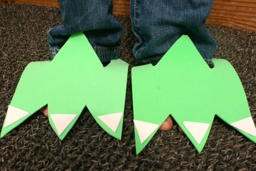 Dinosaur feet - make some like these with chn for role play area