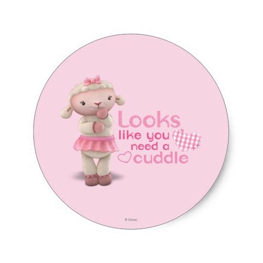 Lambie - Looks Like You Need a Cuddle. Regalos, Gifts. #sticker
