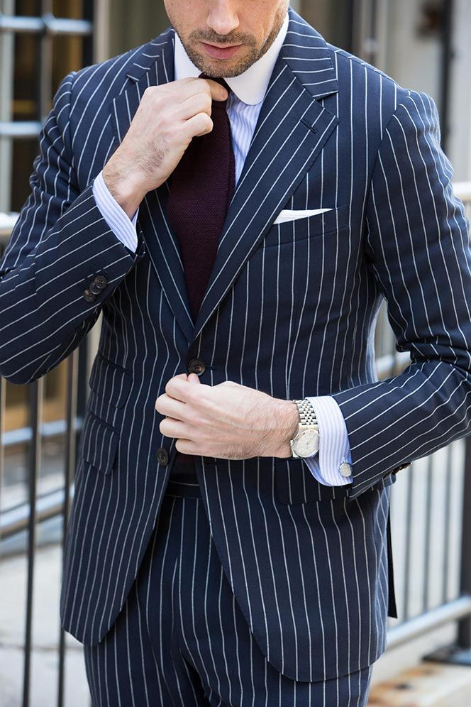 Best 25  Blue pinstripe suit ideas on Pinterest | Mens suits style ...