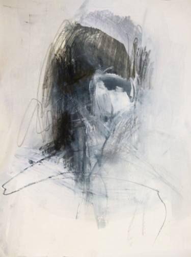 "Saatchi Art Artist Cynthia Gregor; Drawing, ""She"" #art"