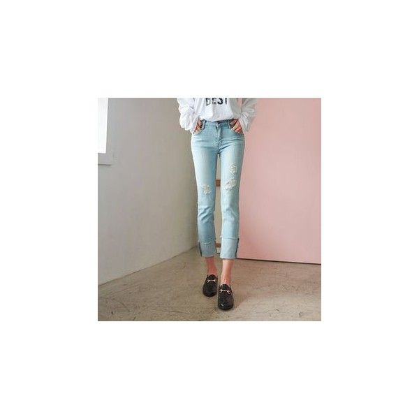 Low-Rise Straight-Cut Jeans ($54) ❤ liked on Polyvore featuring jeans, women, brown jeans, straight leg jeans, straight-leg jeans, low rise jeans and brown straight leg jeans