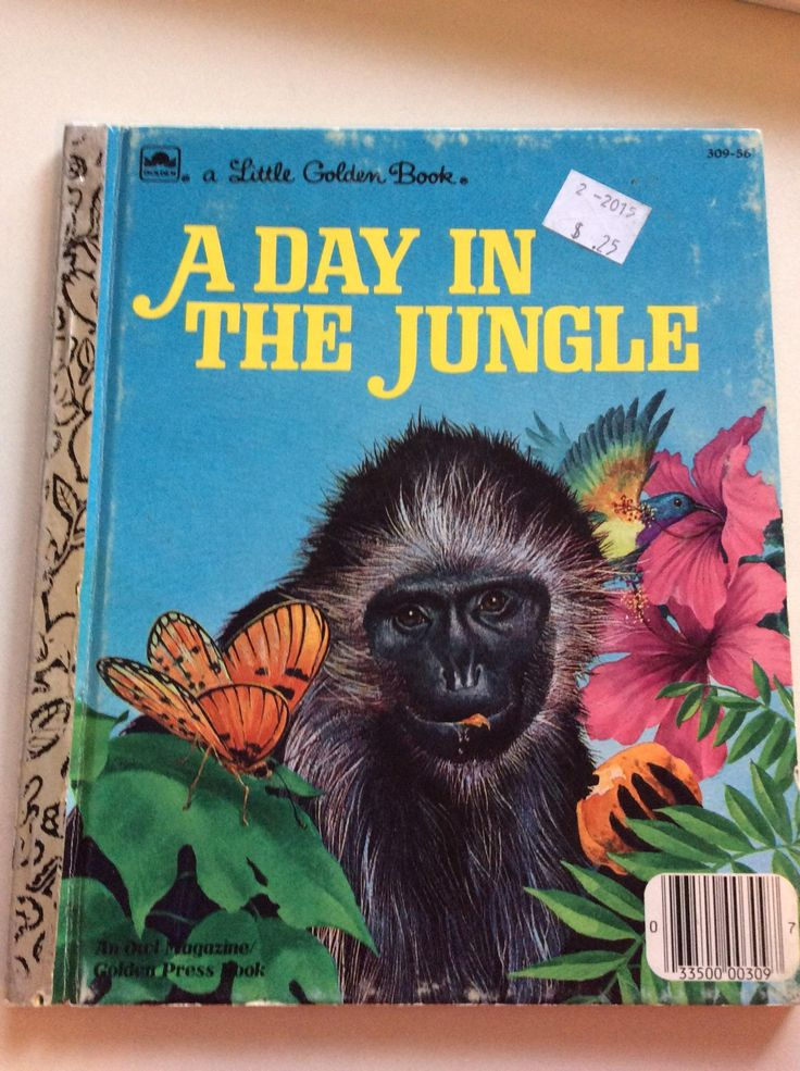 Little Golden Book, A Day In The Jungle in 2020 Little