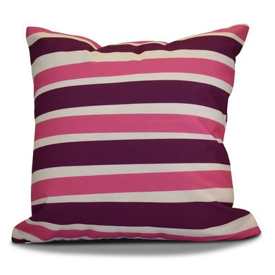 "The Holiday Aisle Hanukkah 2016 Decorative Holiday Striped Throw Pillow Size: 20"" H x 20"" W x 2"" D, Color: Purple"
