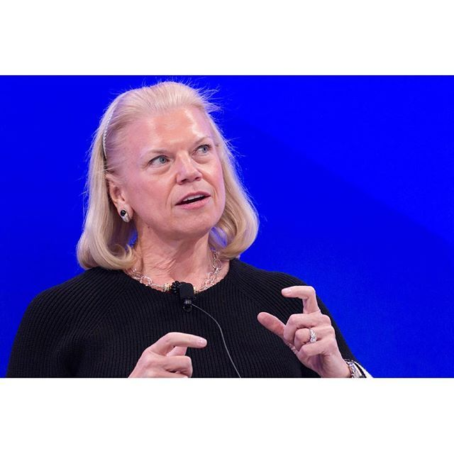 Ginni Rometty, Chairman, President and Chief Executive Officer, IBM Corporation, USA speaking at the Annual Meeting 2017 of the World Economic Forum in Davos, January 17, 2017 Copyright by World Economic Forum / Greg Beadle #davos17 #am #am17 #wef #davos #worldeconomicforum